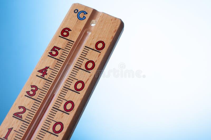 全球性变暖温度计关闭  免版税图库摄影