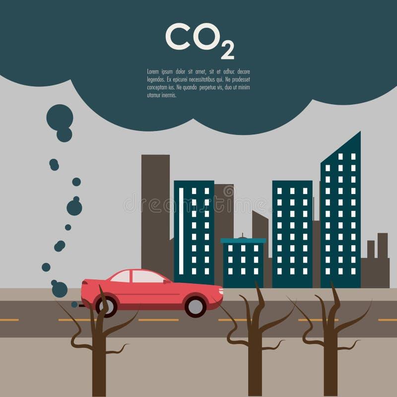 全球性变暖设计 向量例证