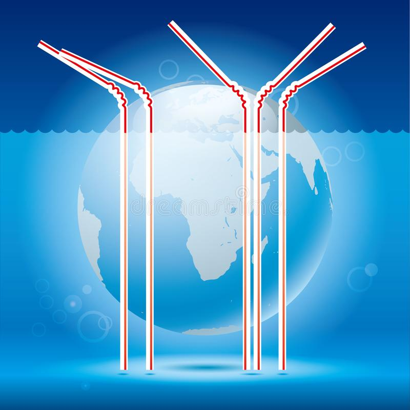 全球性变暖,水平面上升 向量例证