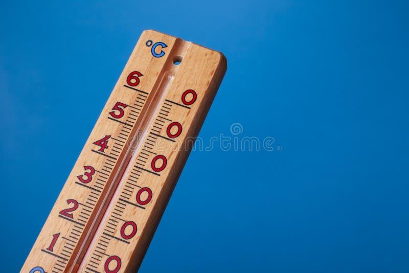 全球性变暖-温度计紧密  免版税库存图片