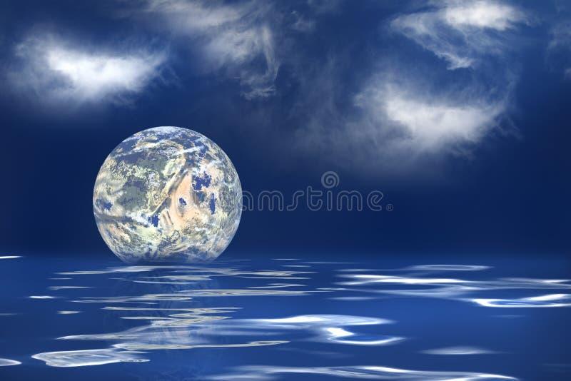全球性变暖 皇族释放例证