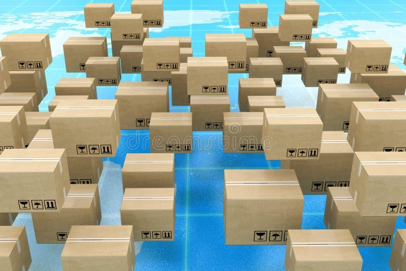 全球性后勤学、运输和全世界交付企业conce 免版税库存照片