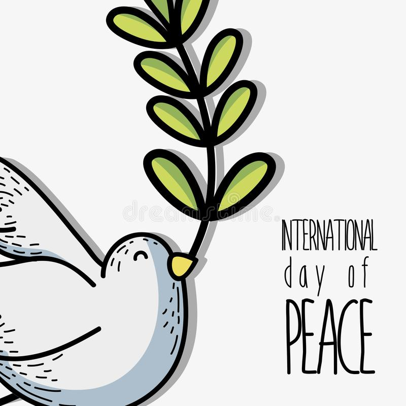 全球性和平和爱对全世界和谐 库存例证