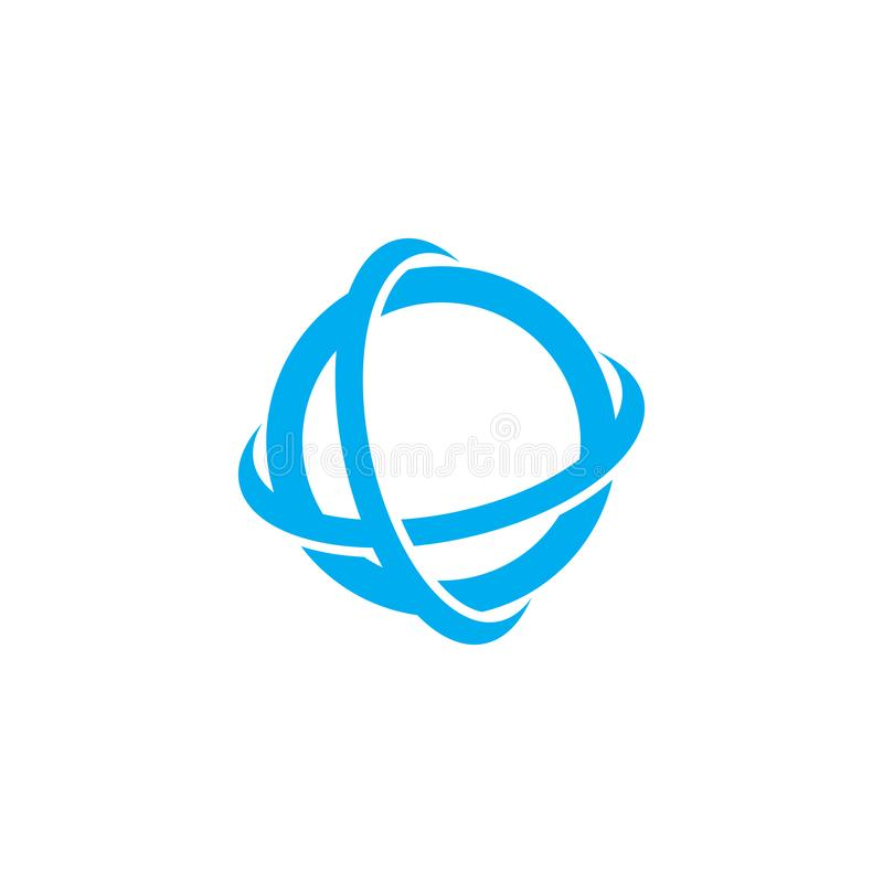 全球性商标传染媒介模板象例证 库存例证