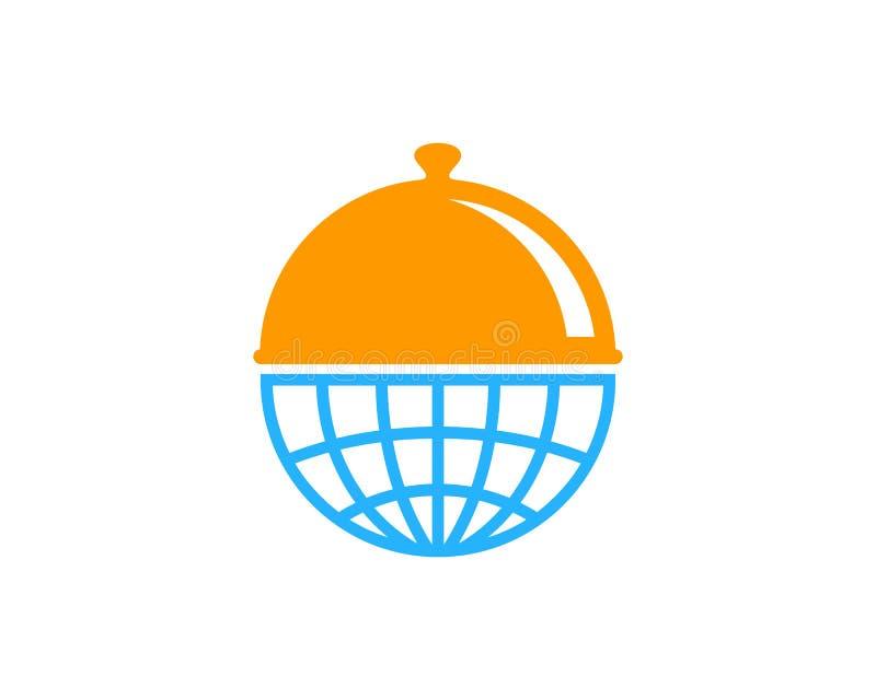 全球性国际食物象商标设计元素 皇族释放例证