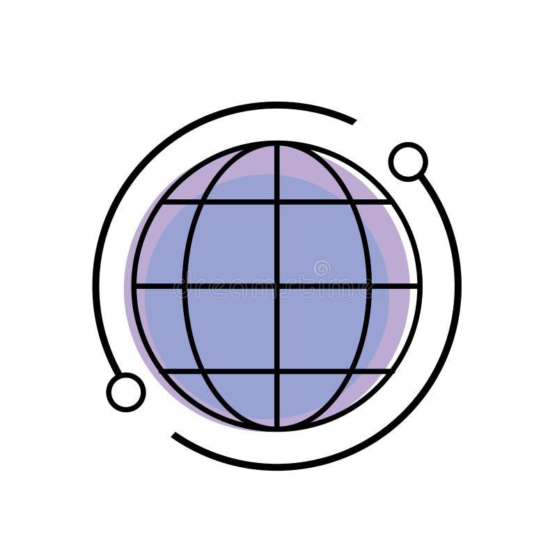 全球性地图连接数字技术 皇族释放例证