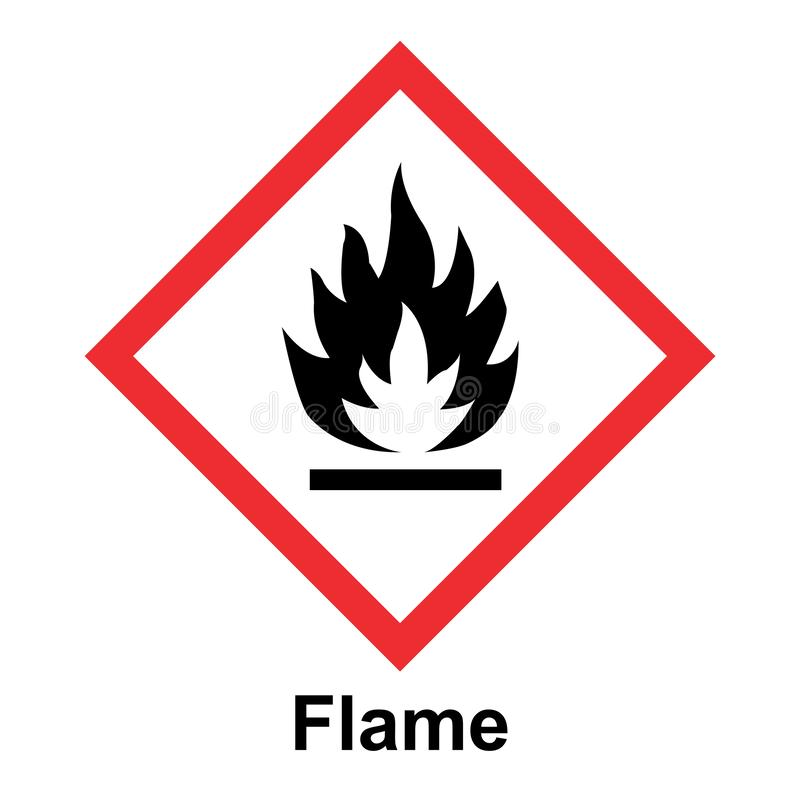 全球性地谐调的系统分类和标记在白色背景的化学制品传染媒介 库存例证