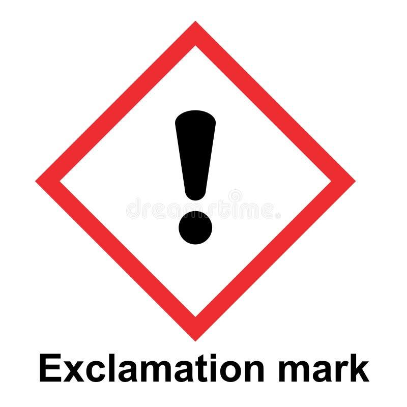 全球性地谐调的系统分类和标记在白色背景的化学制品传染媒介 向量例证