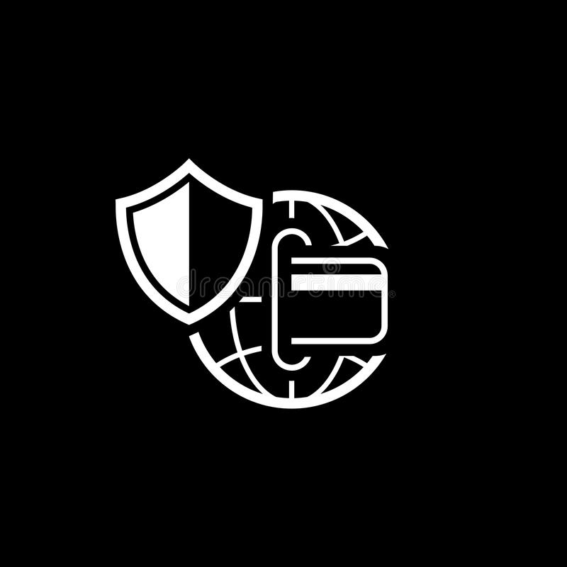 全球性安全付款象 平的设计 库存例证