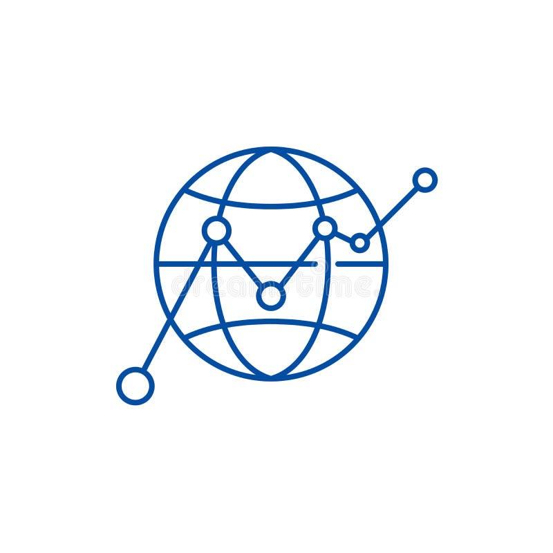 全球性成长线象概念 全球性成长平的传染媒介标志,标志,概述例证 皇族释放例证