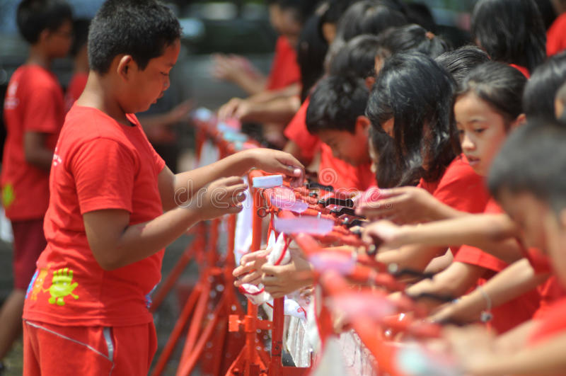 全球性手洗的天在印度尼西亚 库存照片