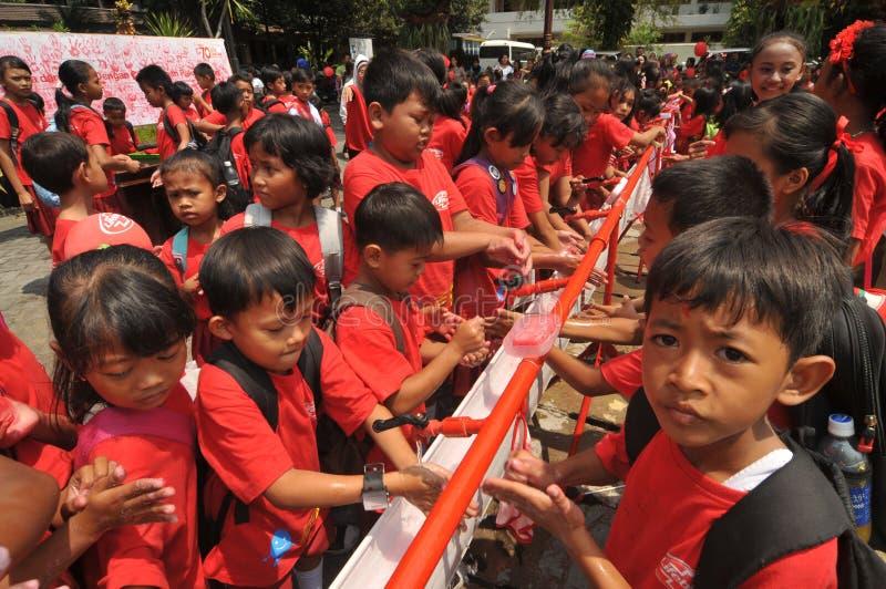 全球性手洗的天在印度尼西亚 库存图片