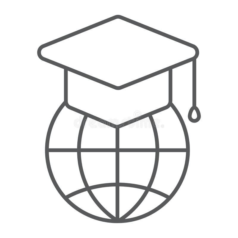 全球性教育稀薄的线象,电子教学 库存例证