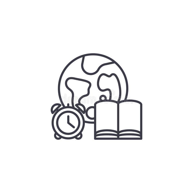 全球性教育线性象概念 全球性教育线传染媒介标志,标志,例证 皇族释放例证