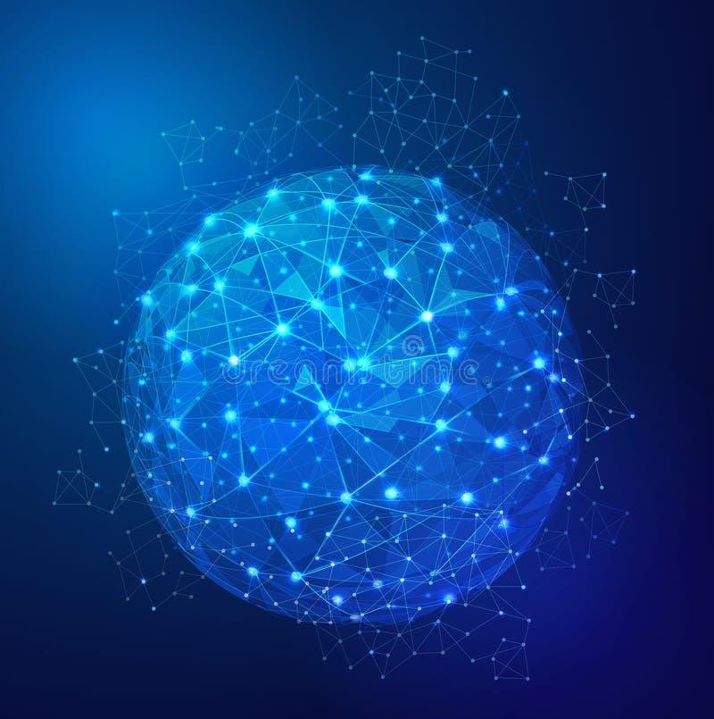 全球性数字式网状网络 库存例证
