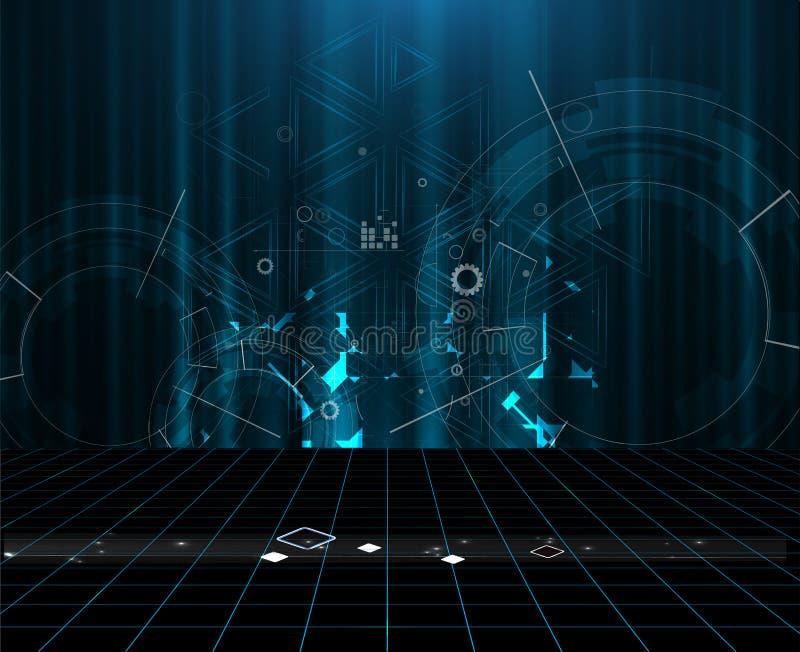 全球性无限计算机科技概念企业背景 向量例证