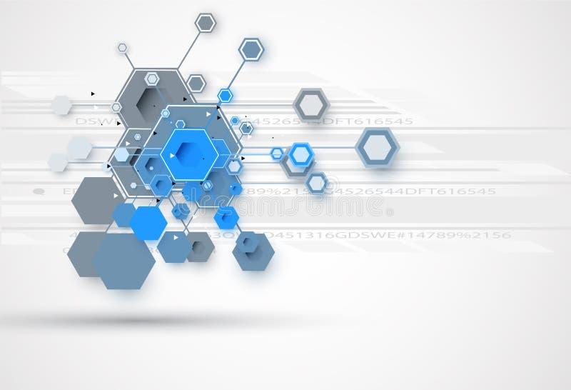 全球性无限计算机科技概念企业背景 皇族释放例证