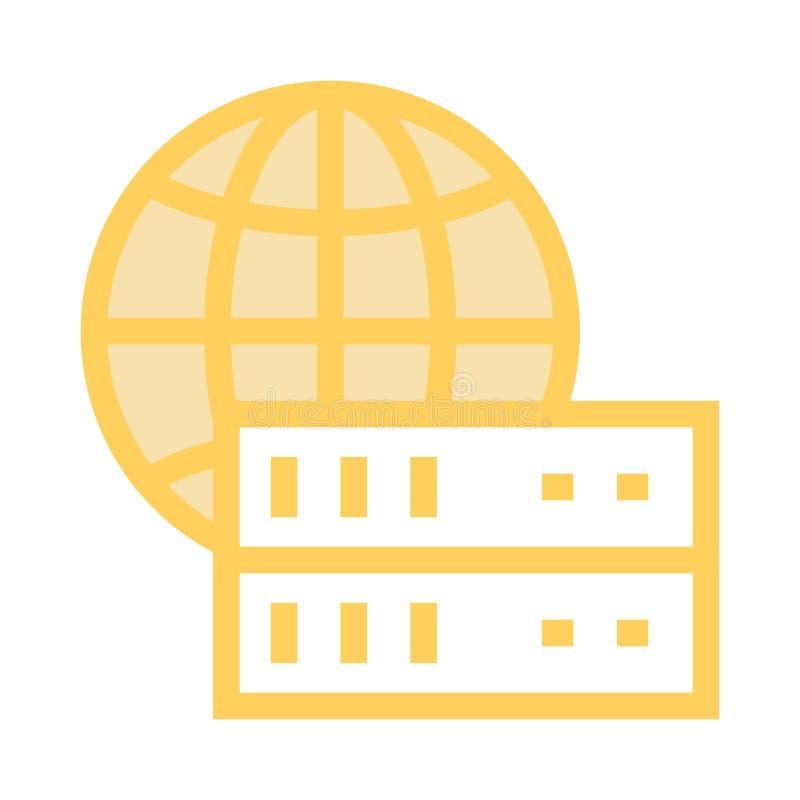全球性服务器线象 皇族释放例证