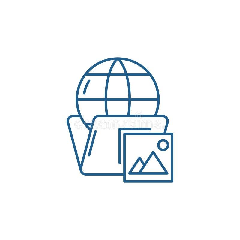 全球性案件排行象概念 全球性案件平的传染媒介标志,标志,概述例证 向量例证