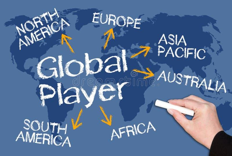 全球性球员 免版税库存照片