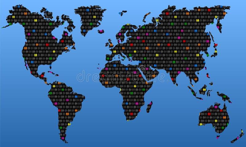 全球性的同性恋 向量例证