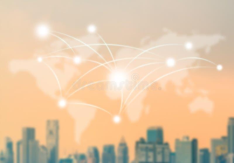 全球性社会网络结构 库存例证