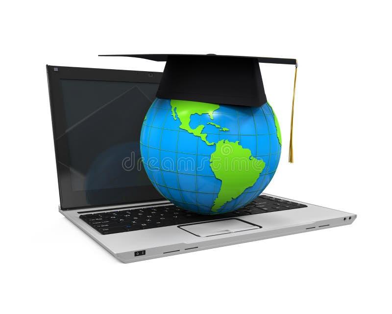 全球性网上教育例证 皇族释放例证