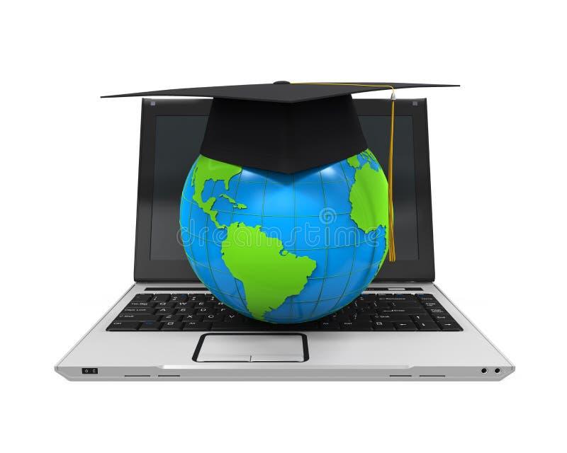 全球性网上教育例证 向量例证