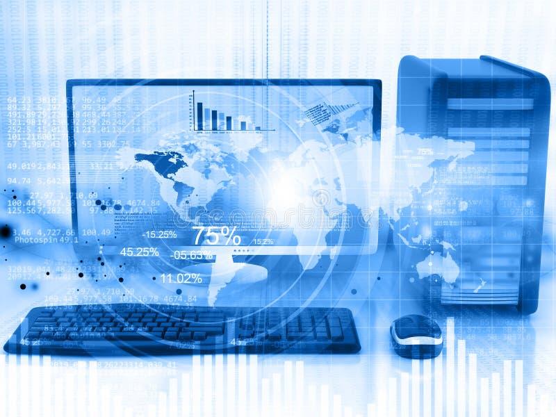 全球性网络技术概念 库存例证