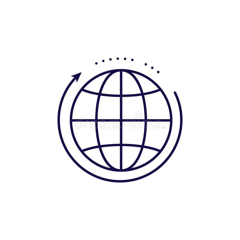 全球性网络象传染媒介 概述样式地球 库存例证