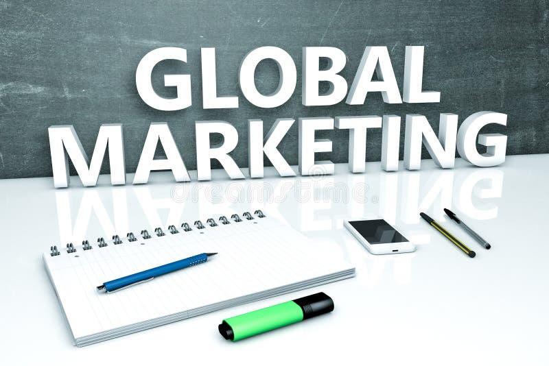 全球性营销文本概念 皇族释放例证
