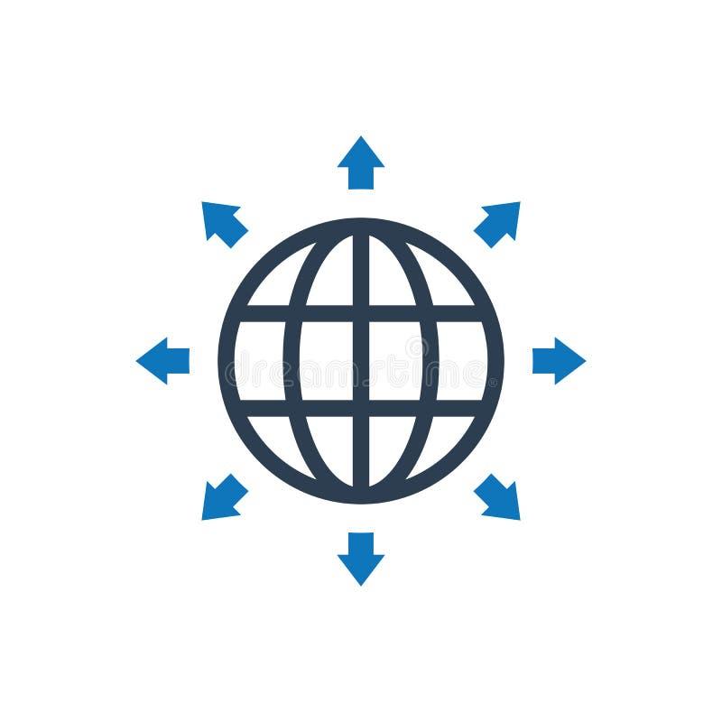 全球性营销方向象 库存例证