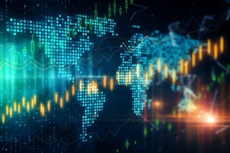 全球性贸易和投资概念 库存照片