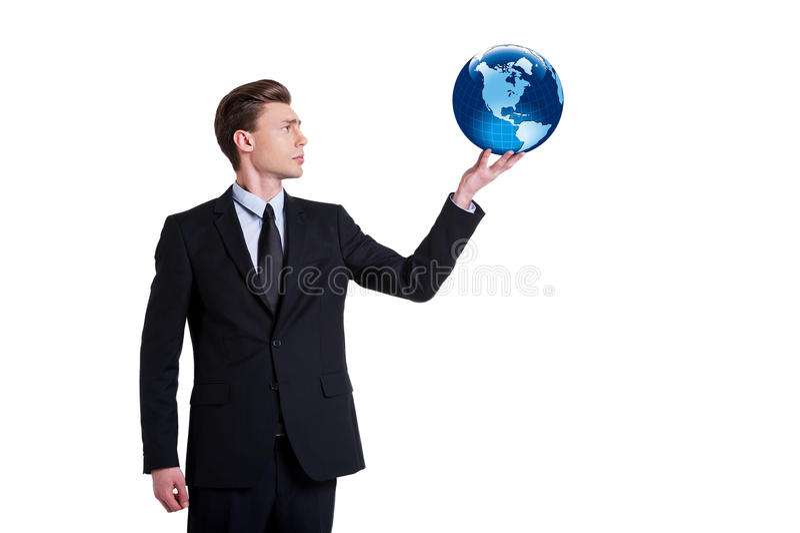 全球性通信。 库存图片
