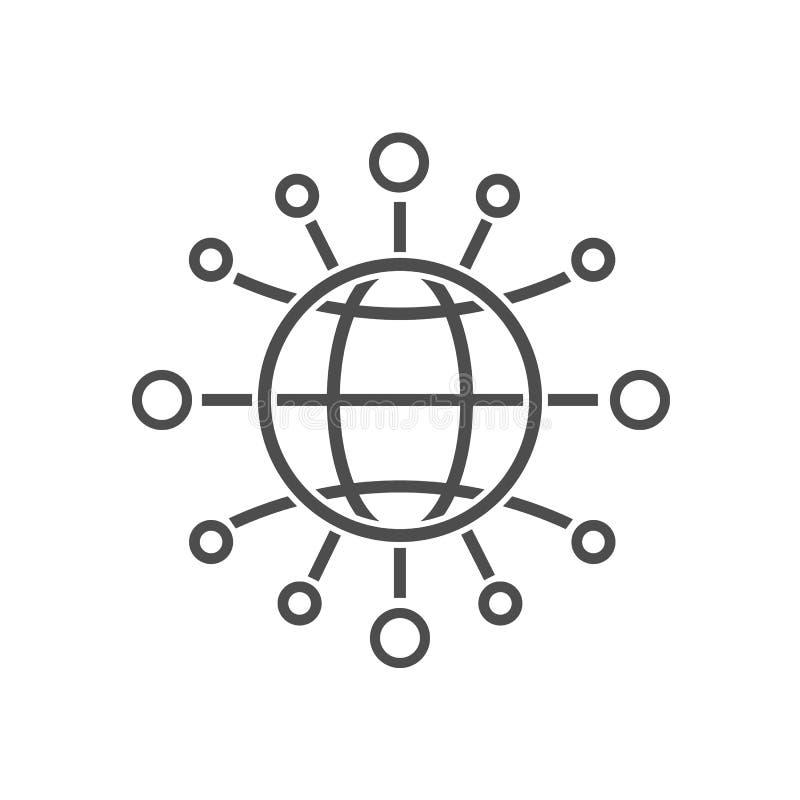 全球性通信标志 也corel凹道例证向量 皇族释放例证
