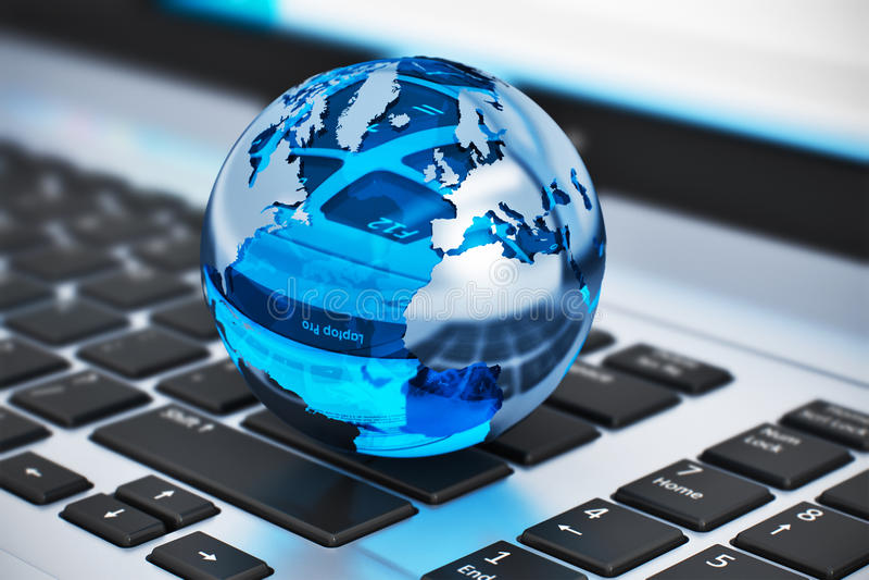 全球性通信概念 库存例证