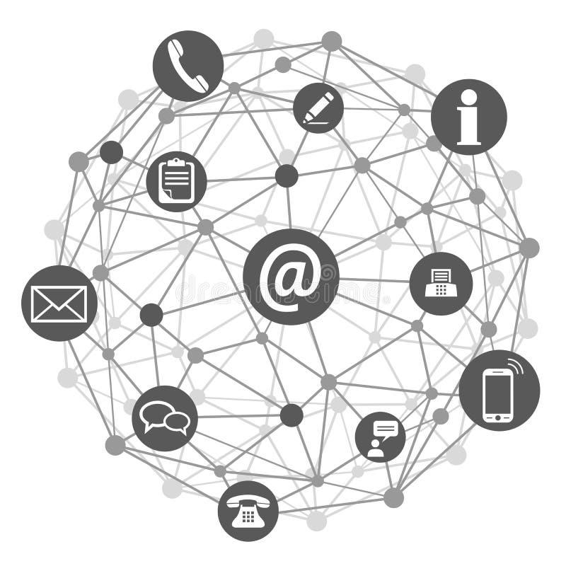 全球性通信象-传染媒介 向量例证