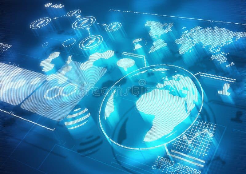 全球性通信 库存例证