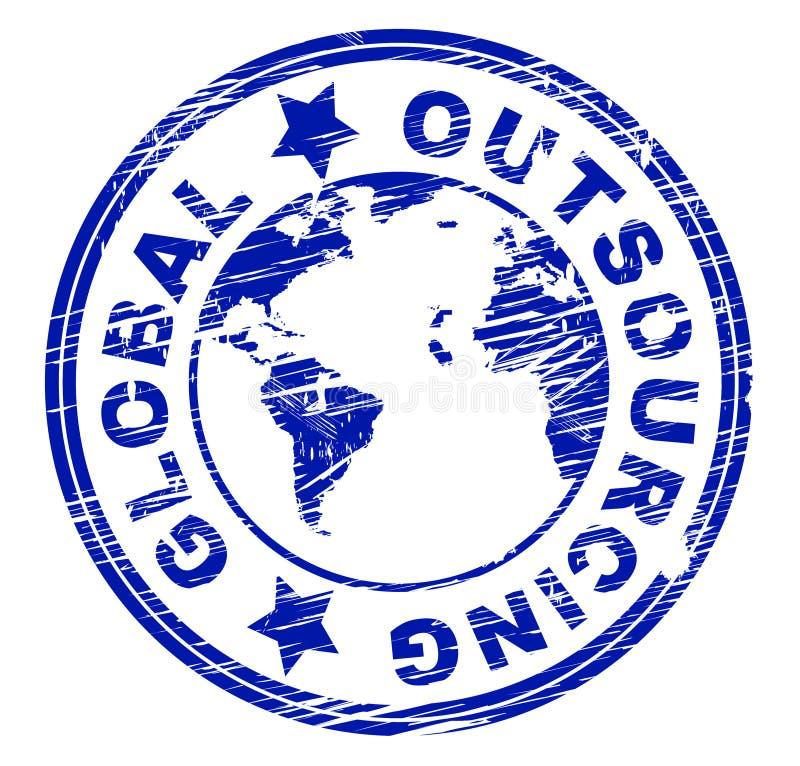 全球性采购代表独立承包商并且做自由职业者 皇族释放例证