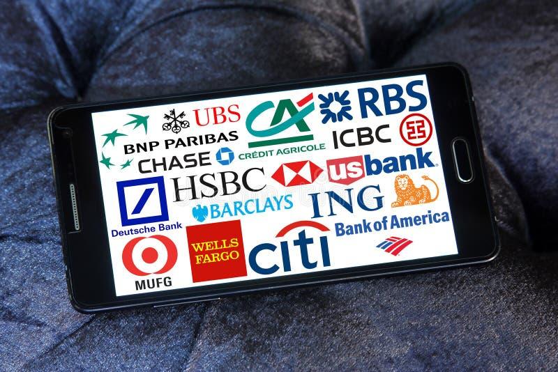 全球性银行象和商标 免版税库存照片