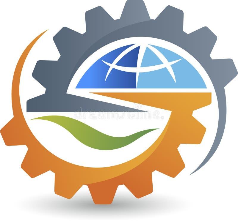 全球性齿轮商标 皇族释放例证