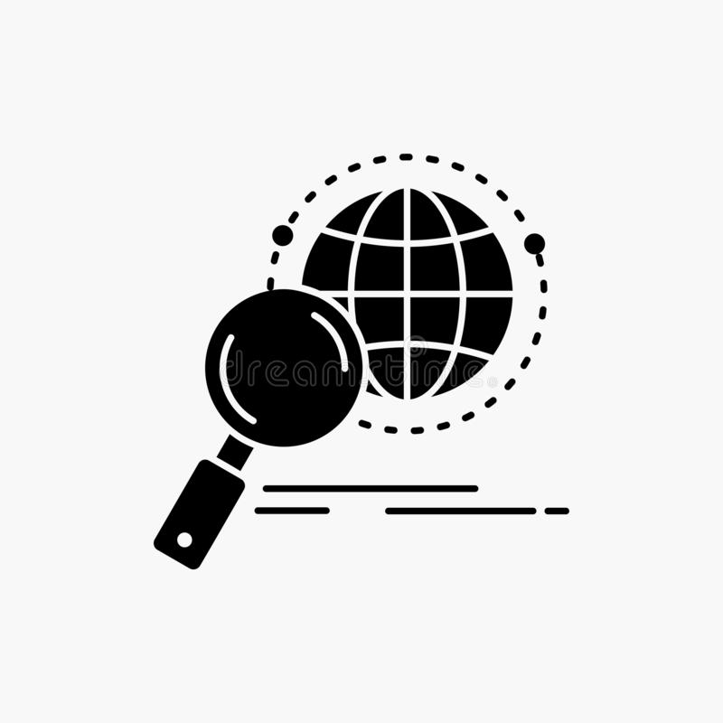 全球性,地球,放大器,研究,世界纵的沟纹象 r 库存例证