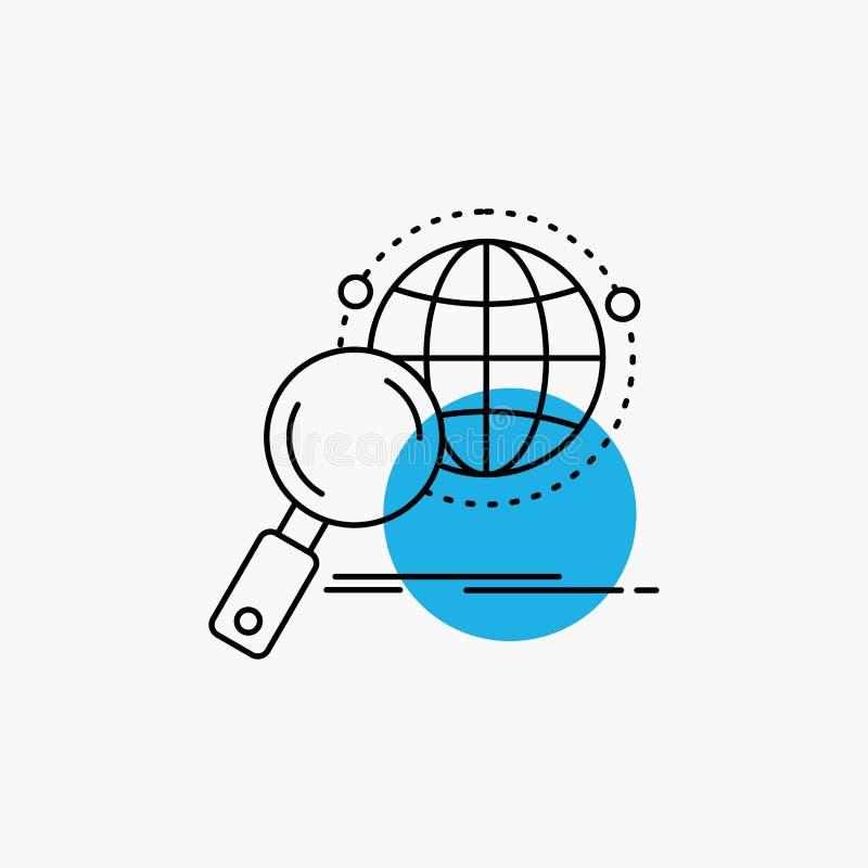 全球性,地球,放大器,研究,世界线象 向量例证