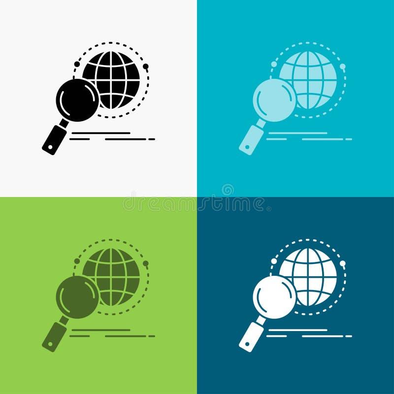 全球性,地球,放大器,研究,在各种各样的背景的世界象 r 10 eps 向量例证