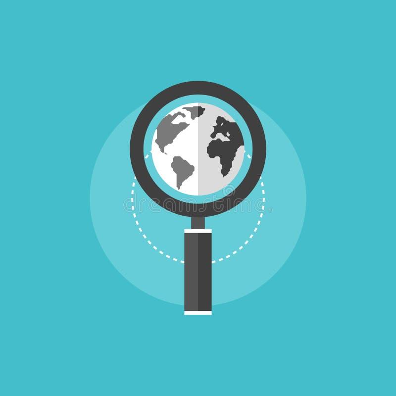 全球性SEO平的象例证 皇族释放例证