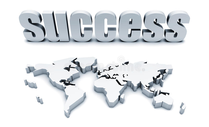 全球成功 库存例证