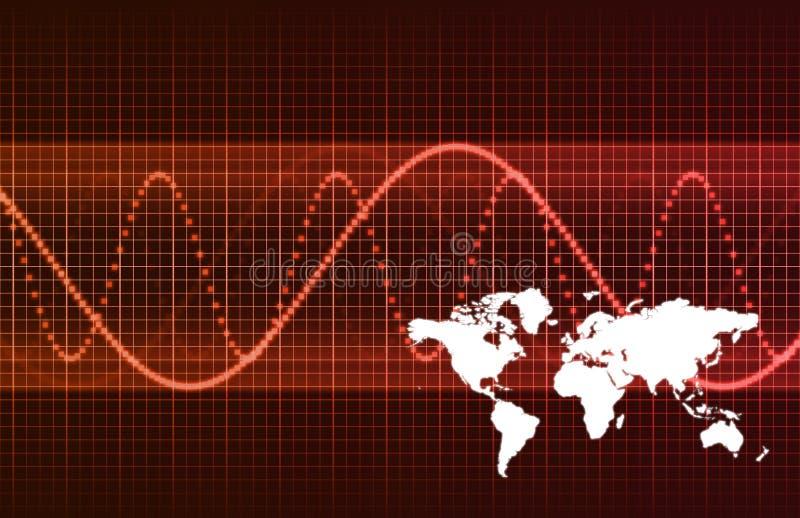 全球抽象背景的商业 向量例证