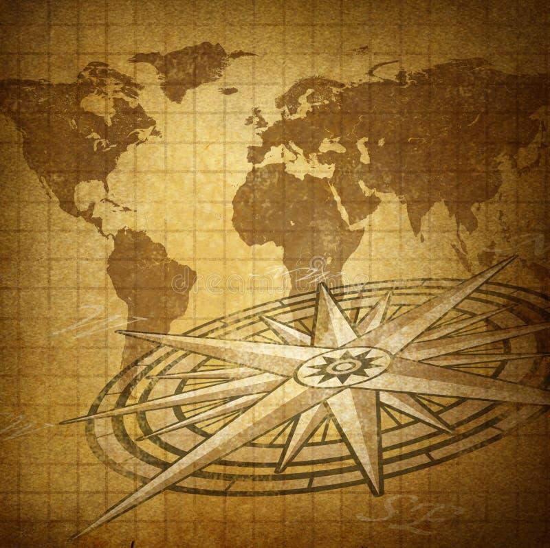 全球方向 库存例证