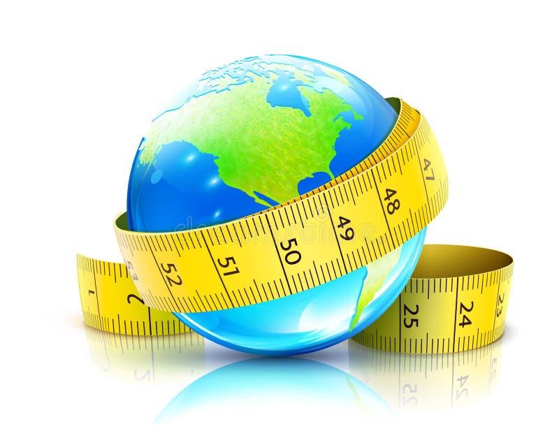 全球概念的饮食 库存例证
