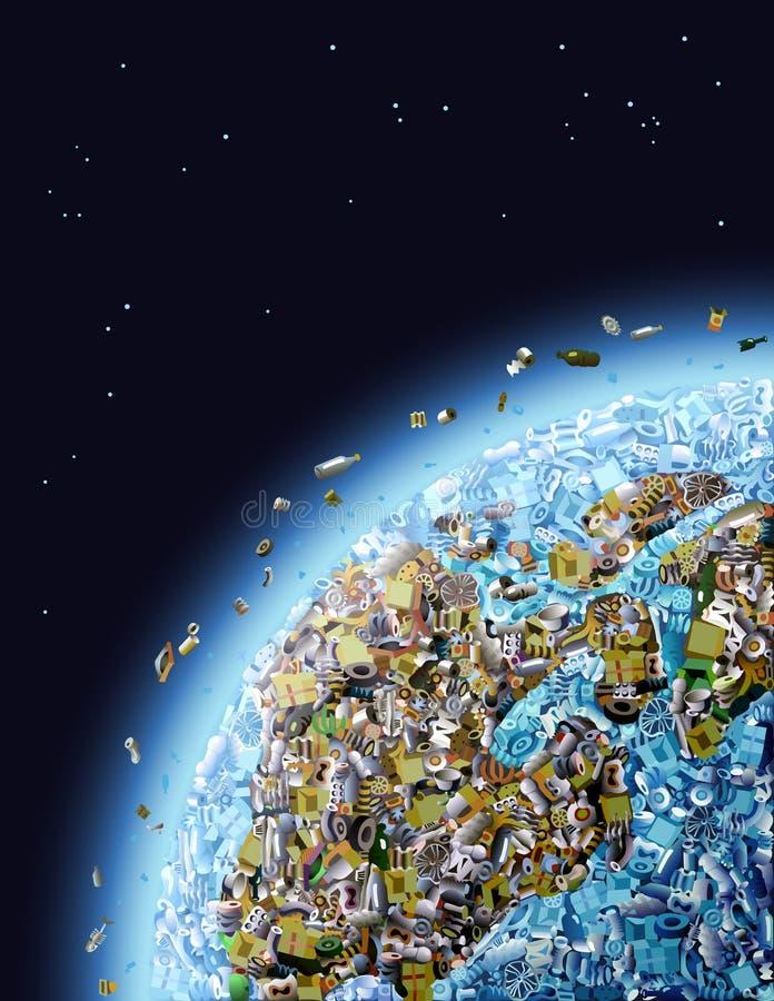 全球污染 向量例证